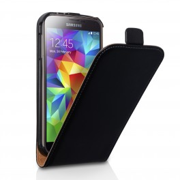 samsung-galaxy-s5-i9600-leather-flip-case-black