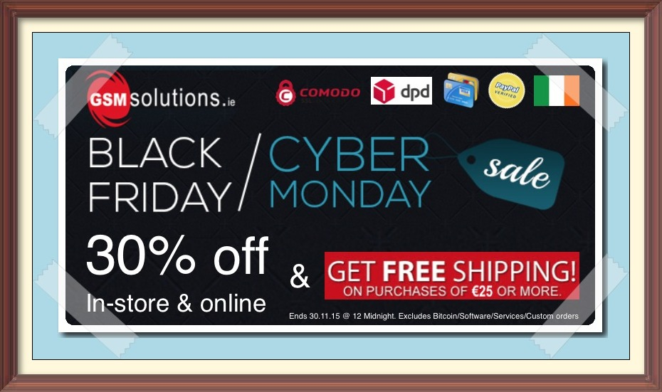 Black Friday 2015 @ GSMsolutions