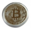 1oz 24ct Gold Plated Physical Bitcoin Bullion Coin