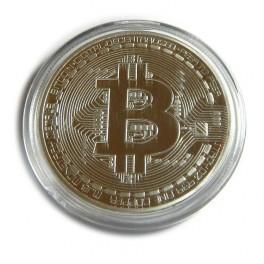 1oz 24ct Gold Plated Physical Bitcoin Bullion Coin