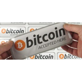 Bitcoin Accepted Here Sticker (2 pack)