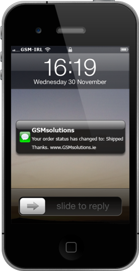 GSMsolutions SMS Notifactions
